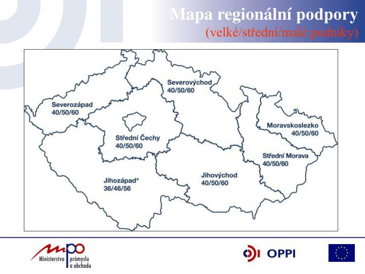 Mapa regionální