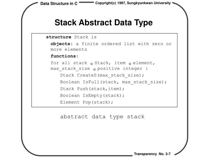 Stack Abstract Data Type