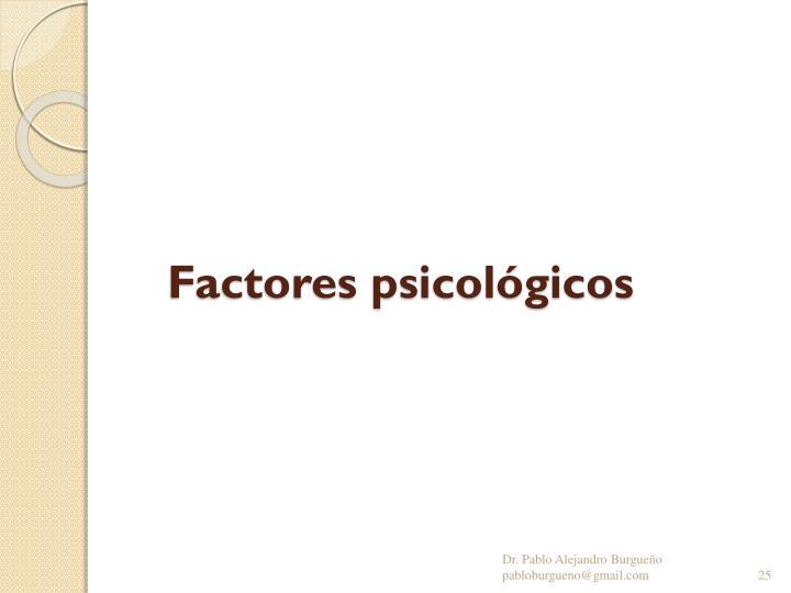 Factores psicológicos