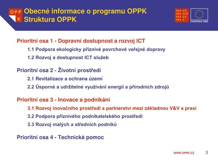 Obecné informace o programu OPPK
