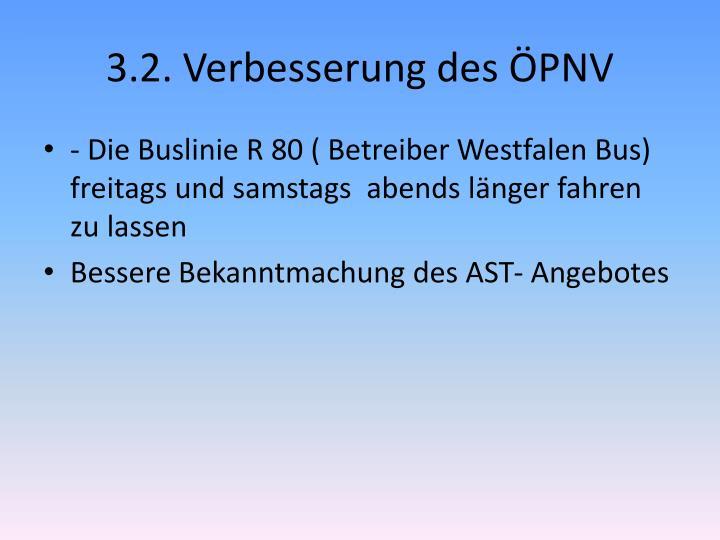 3.2. Verbesserung des ÖPNV