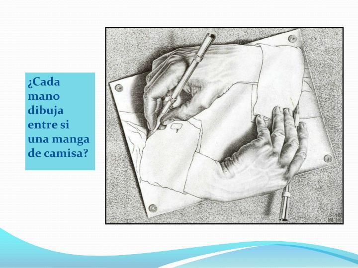 ¿Cada mano dibuja entre si una manga de camisa?