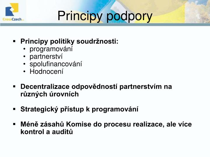 Principy podpory