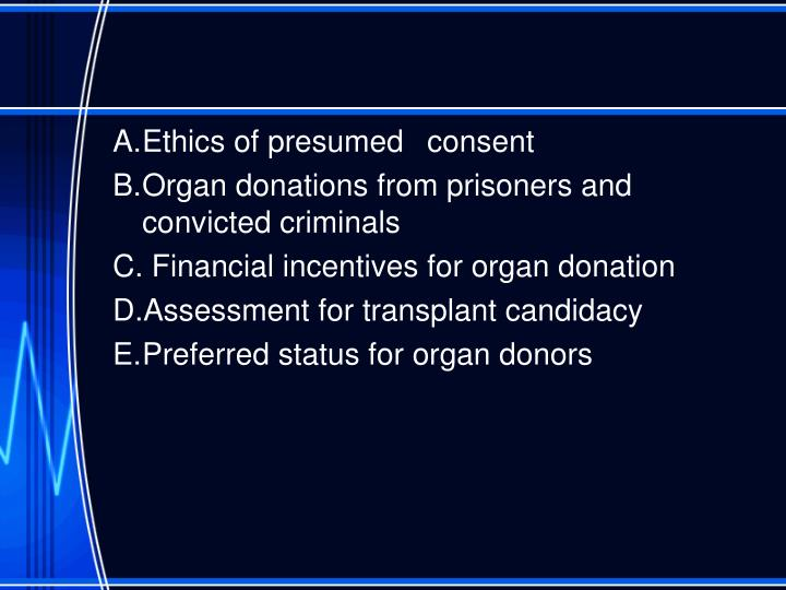 A.	Ethics of presumed 	consent