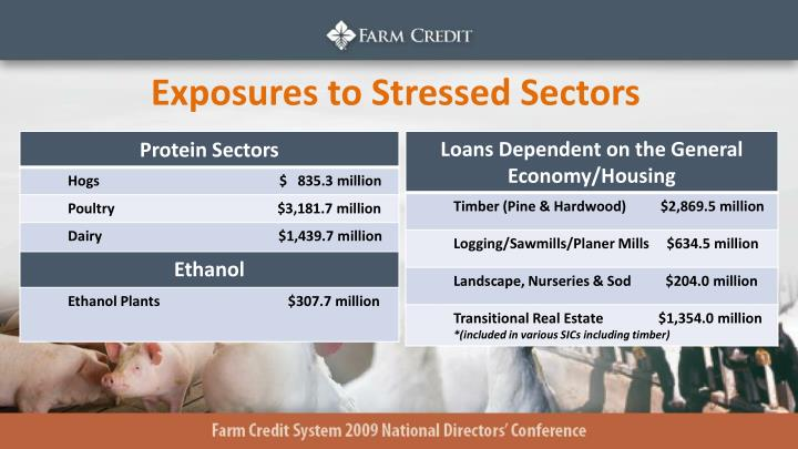 Exposures to Stressed Sectors