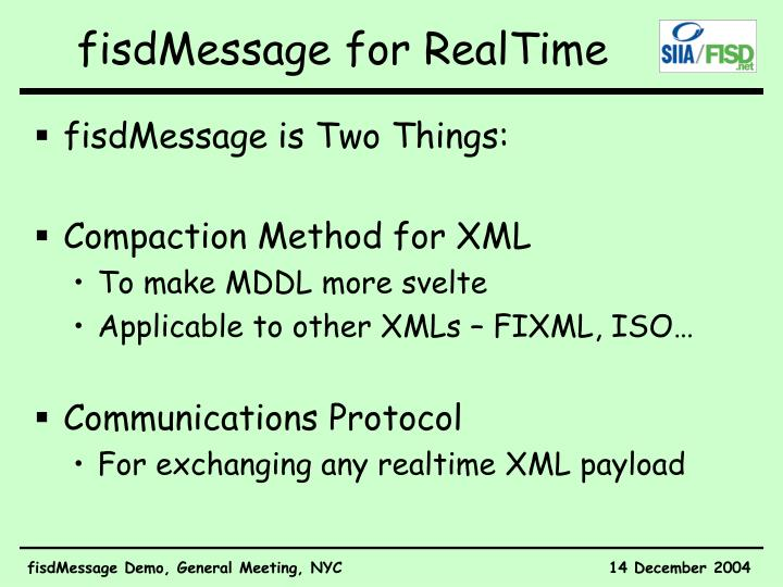 Fisdmessage for realtime