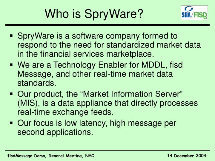 Who is SpryWare?