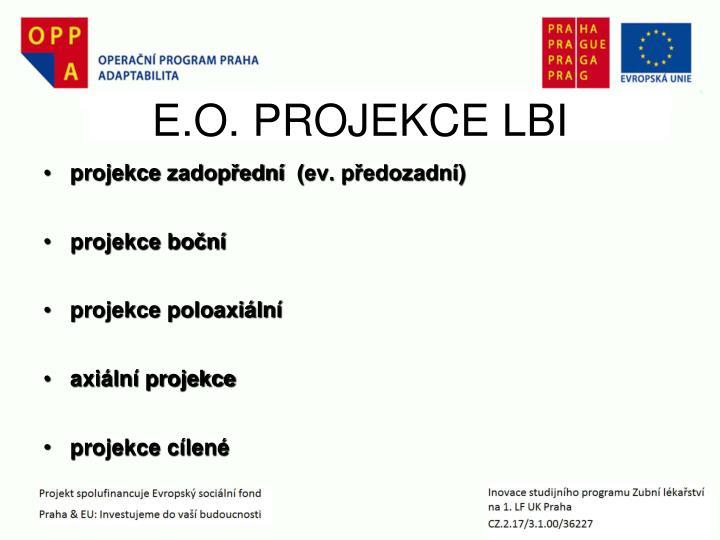 E.O. PROJEKCE LBI