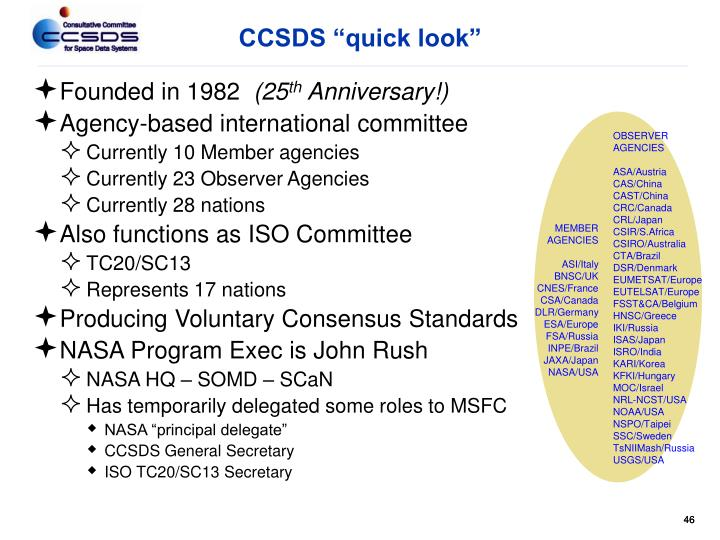 "CCSDS ""quick look"""