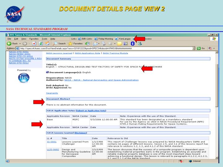 DOCUMENT DETAILS PAGE VIEW 2
