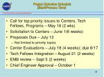 project selection schedule start process time