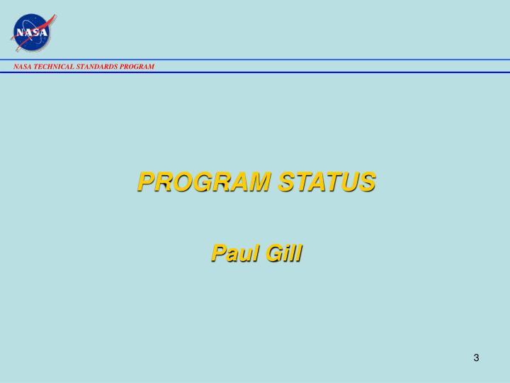 PROGRAM STATUS