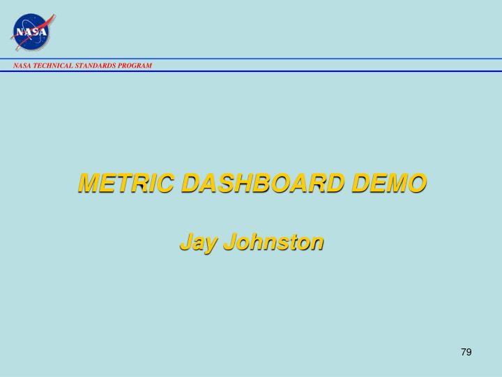 METRIC DASHBOARD DEMO