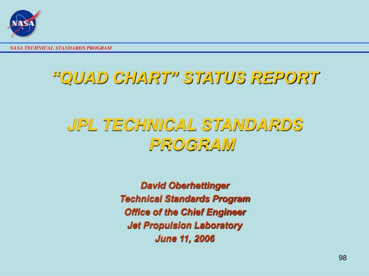 """QUAD CHART"" STATUS REPORT"