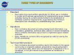 three types of documents