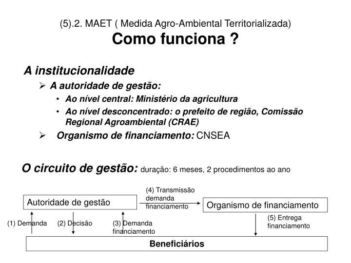 (5).2. MAET ( Medida Agro-Ambiental Territorializada)