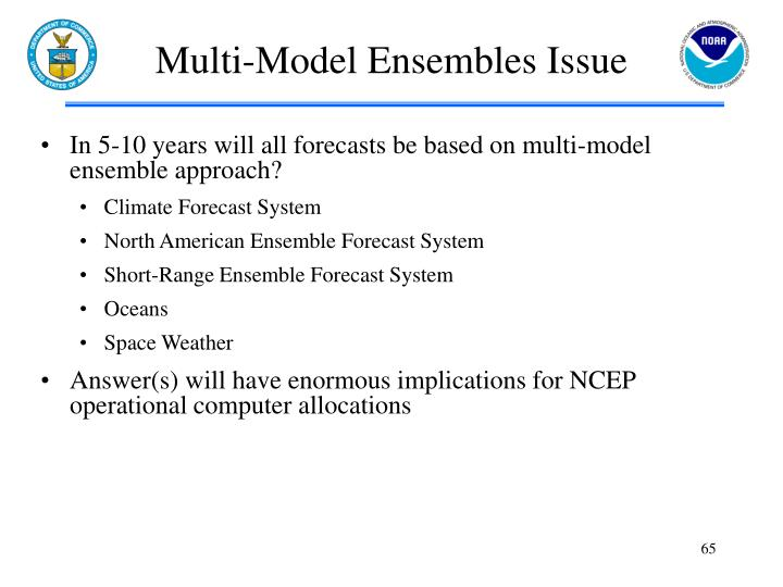 Multi-Model Ensembles Issue