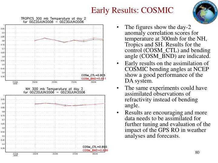 Early Results: COSMIC