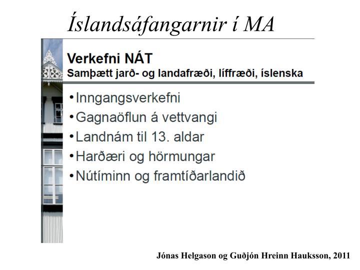 Íslandsáfangarnir í MA