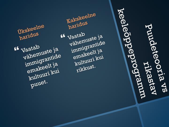 Kakskeelne haridus