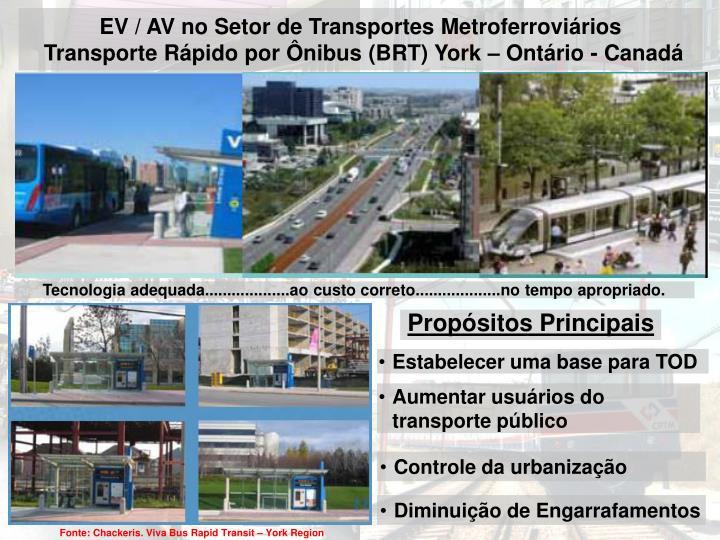 EV / AV no Setor de Transportes Metroferroviários