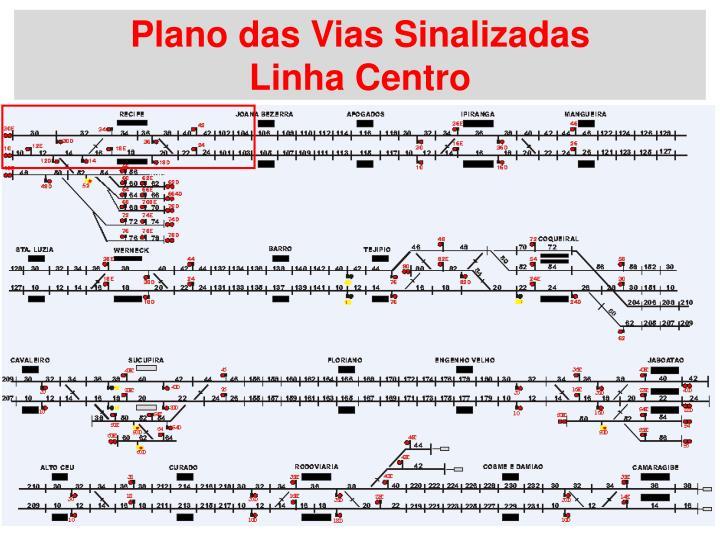 Plano das Vias Sinalizadas