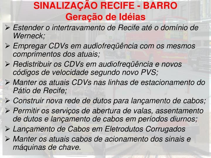 SINALIZAÇÃO RECIFE - BARRO