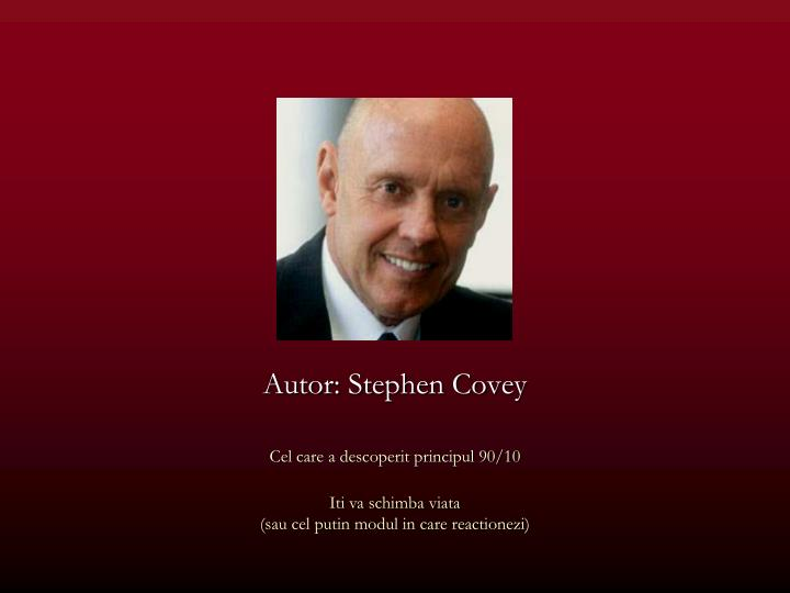 Autor stephen covey