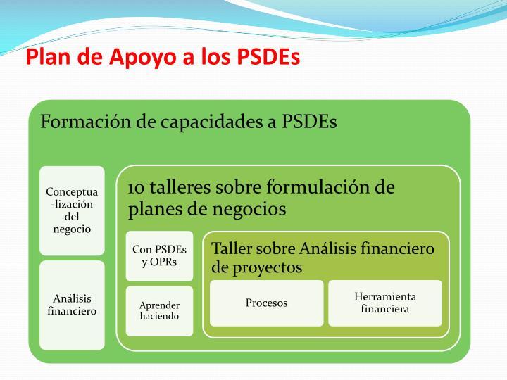 Plan de Apoyo a los PSDEs