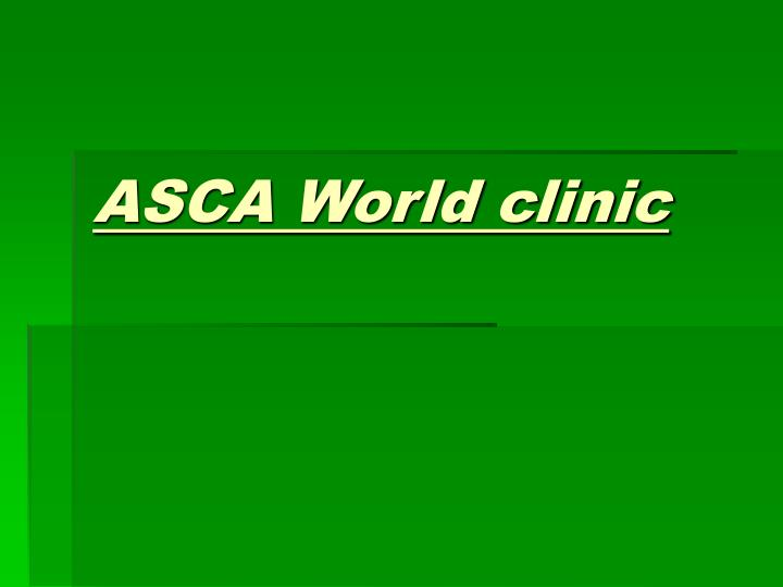 Asca world clinic