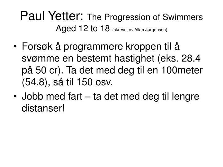 Paul Yetter: