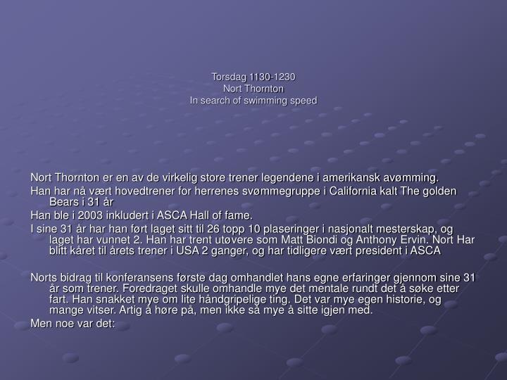 Torsdag 1130-1230