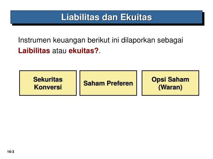 Liabilitas dan Ekuitas