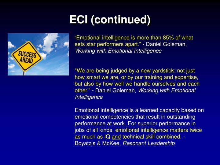 ECI (continued)