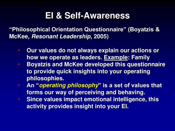 EI & Self-Awareness