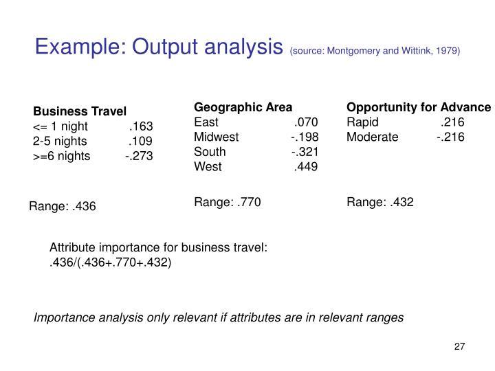 Example: Output analysis