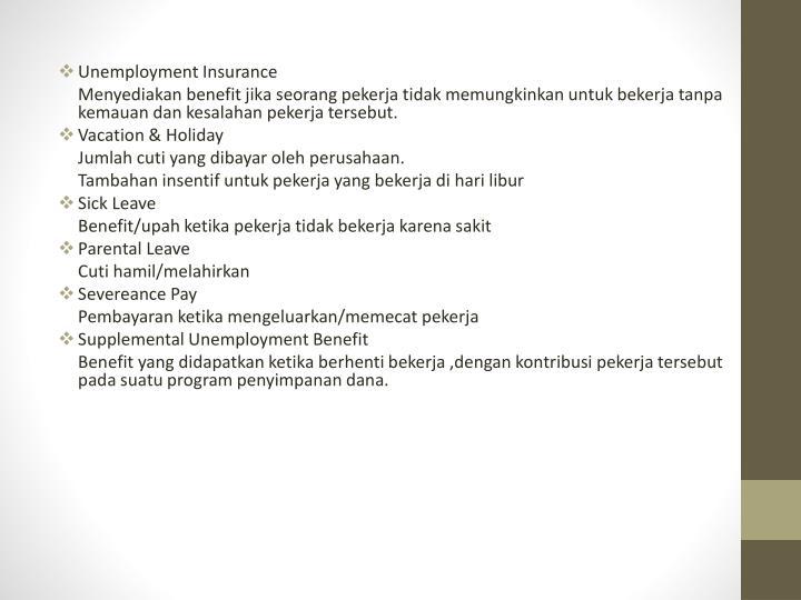 Unemployment Insurance