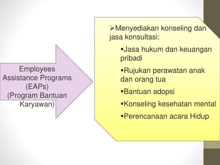 Menyediakan konseling dan jasa konsultasi: