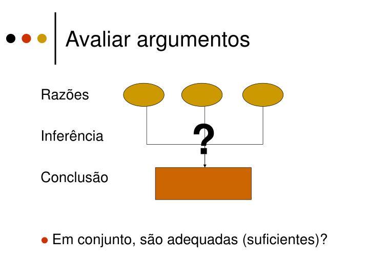 Avaliar argumentos