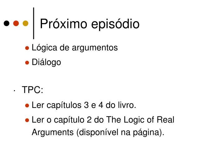Próximo episódio