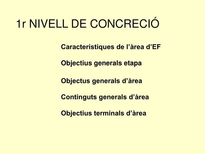 1r NIVELL DE CONCRECIÓ