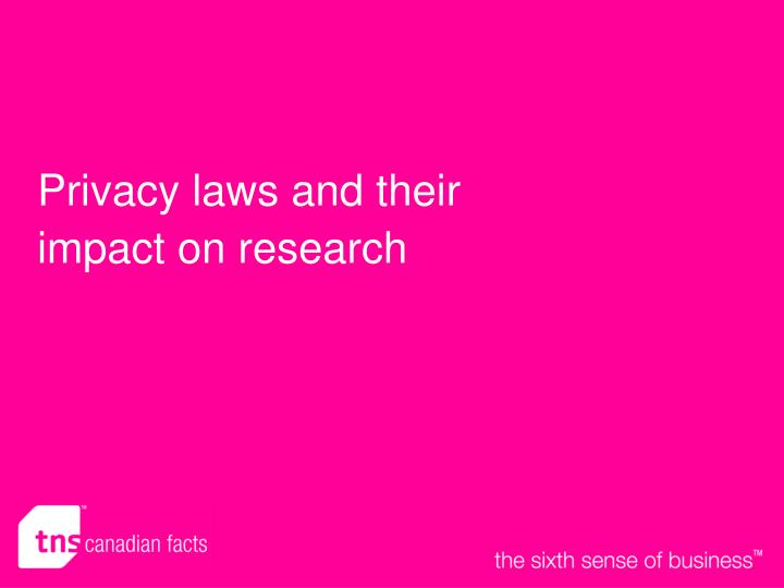 Privacy laws and their impact on research