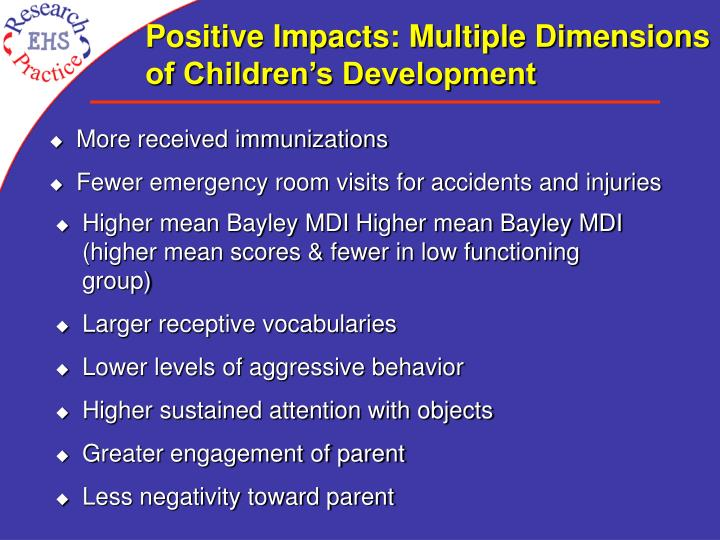 Positive Impacts: Multiple Dimensions