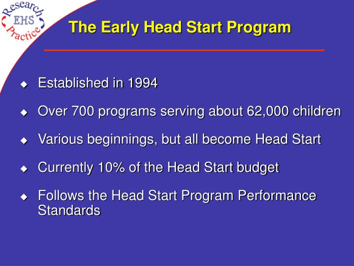 The early head start program