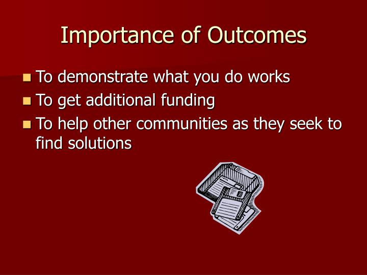 Importance of Outcomes
