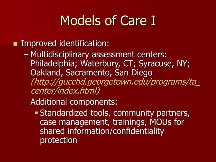 Models of Care I
