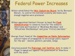 federal power increases