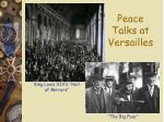 peace talks at versailles