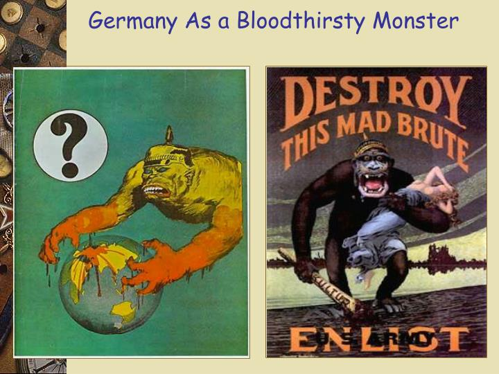 Germany As a Bloodthirsty Monster