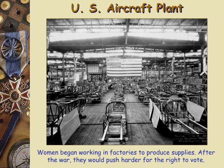 U. S. Aircraft Plant